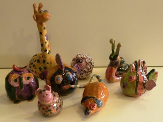 Lavoretti in ceramica realizzati durante i corsi di ceramica organizzati da Creta Rossa di Vasto.
