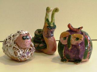 Lavoretti in ceramica realizzati dai bambini durante i corsi organizzati da Creta Rossa di Vasto.