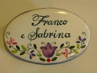 Targhette Per Porte In Ceramica.Targa Per Esterno Casa Targa Ceramica Personalizzata Con Lavanda