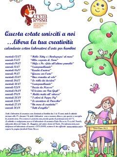 Calendario estivo laboratori d'arte per bambini a Vasto organizzati da Creta Rossa