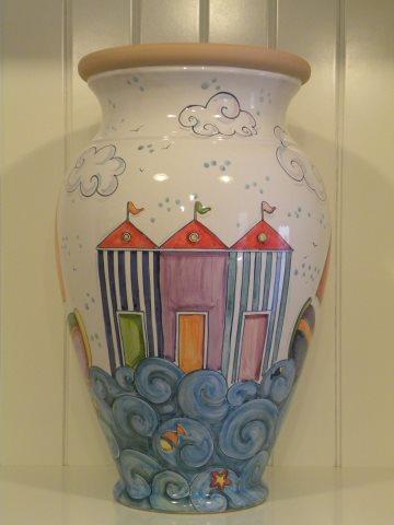 Portaombrelli e portavasi artigianali in ceramica - Portaombrelli in ceramica bianca ...