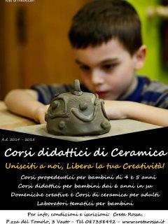 Corsi di ceramica per bambini a Vasto